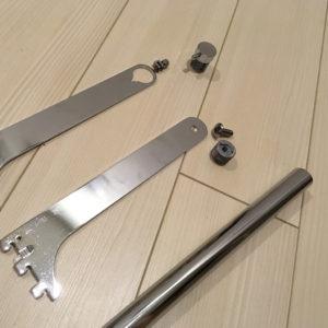 ハンガーパイプにネジ用打ち込みナットを簡単に入れる方法
