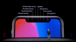 iPhoneX前面のカメラ
