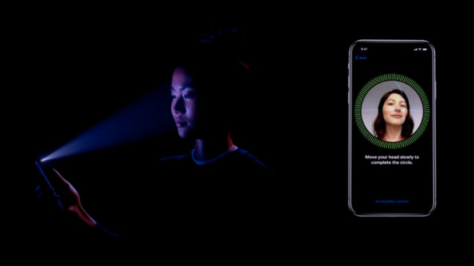 iPhoneX Face IDによる顔認証