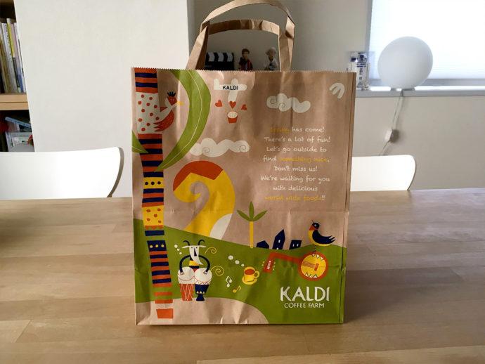 KALDI カルディの紙袋がかわいい