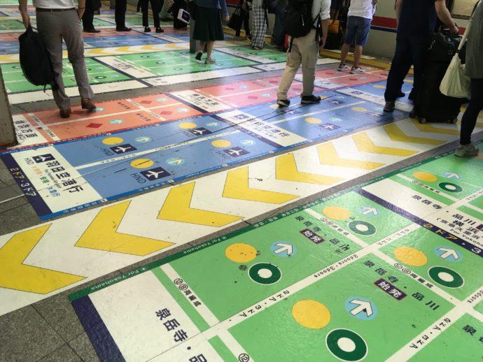 京急品川駅プラットフォーム案内表示がカオス