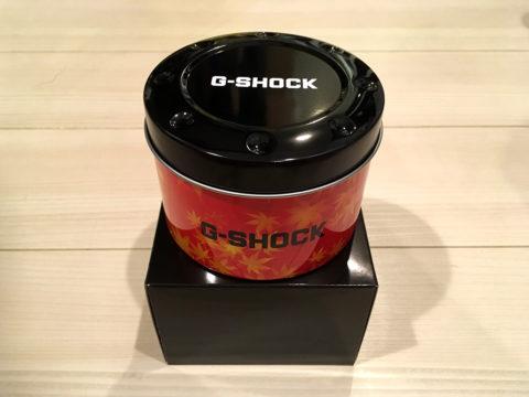 G-SHOCK DW-5600TAL-1JR 缶のデザインも秋の紅葉