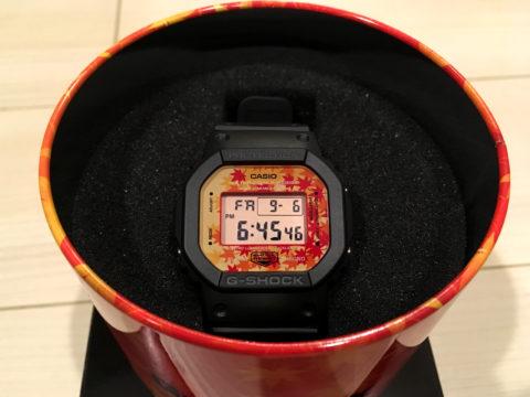 秋のG-SHOCK DW-5600TAL-1JR 紅葉デザイン